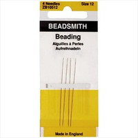 Beadsmith English Beading Needles Size 12 (4 Needles)