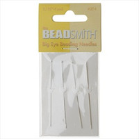BeadSmith Big Eye Beading Needles 2.125 Inches Long (4)