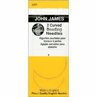 John James English Curved Beading Needles Size 10 (2 Needles)