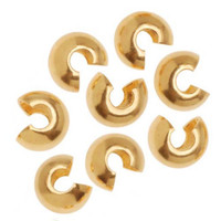 22K Gold Plated Crimp Bead Covers 5mm (144)