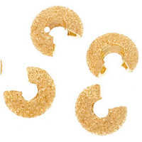 22K Gold Plated Stardust Crimp Bead Covers 4mm (50)