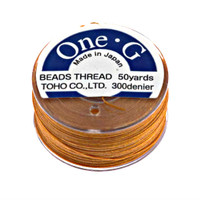 Toho One-G Beading Thread Orange, 50 Yard spool