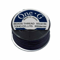 Toho One-G Beading Thread Navy Blue, 50 Yard spool