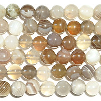 Botswana Agate 4mm Round Beads 16 In.Strand