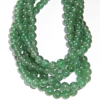 Green Aventurine 6mm Round Beads 16 In.Strand
