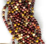 Mookaite 4mm Round Beads 16 In.Strand