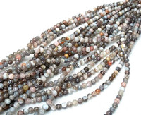 Botswana Agate 6mm Round Beads 16 In.Strand