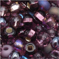Czech Seed Beads 6/0 Purple Passion Mix (1 ounce)