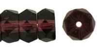 Czech Glass Fire Polish Rondelle  6x3mm Dark Amethyst (25)