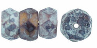 Czech Glass Fire Polish Rondelle  6x3mm Stone Amethyst (25)