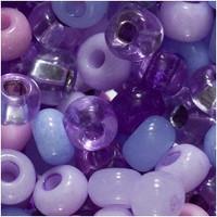 Czech Seed Beads 6/0 Purple Parasols Mix (1 ounce)