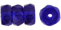 Czech Glass Fire Polish Rondelle  6x3mm Cobalt (25)