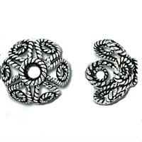 Bali Sterling Silver Filigree Bead Caps 9mm (4)