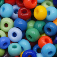 Czech Seed Beads 6/0 Rainbow Opaque Mix (1 ounce)