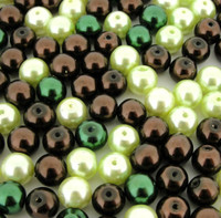 UnCommon Artistry Glass Pearl Mix 100pcs 8mm - Chocolate Mint Mix