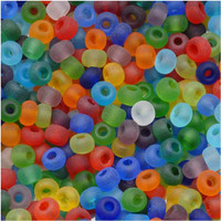 Czech Seed Beads 6/0 Rainbow Matte Clear Mix (1 ounce)