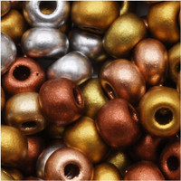 Czech Seed Beads 6/0 Supra Metallic Mix (1 ounce)