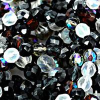 Czech Glass Fire Polish 6mm Pebblestone  Mix (50)