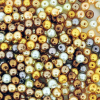 UnCommon Artistry Glass Pearl Mix 200pcs 6mm - Caramel Mix