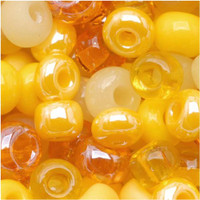 Czech Seed Beads 6/0 Daffodil Yellow Mix (1 ounce)