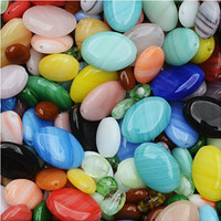 Czech Glass Oval Beads in Assorted Colors & Sizes (1 oz)