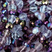 Czech Glass Fire Polish 4mm Lilac Mix (100)