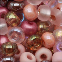 Czech Seed Beads 6/0 Victorian Rose Mix (1 ounce)