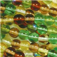 Czech Glass Druk 6mm Round Earth Tones Mix (50)