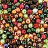 UnCommon Artistry Glass Pearl Mix 200pcs 6mm- Fall Mix