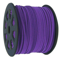UnCommon Artistry Faux Leather Suede Beading Cord, Plum Purple (20 ft)