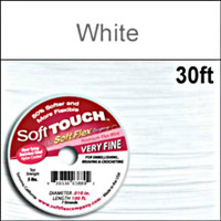 Soft Touch Best Beading Wire WHITE .010 Inch 30 Feet Soft Flex