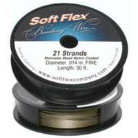 Soft Flex Best Beading Wire Steel Fine .014 Inch 30 Feet