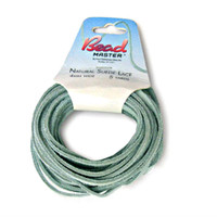 Genuine Natural Suede Leather Lace Cord 4mm Sage 5 Yards