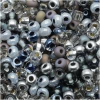 Czech Seed Beads 6/0 'Silver Wares Mix (1 ounce)