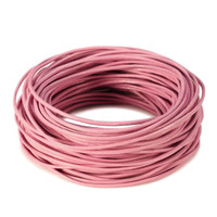 15 Ft of Rose Pink Genuine Leather Cord Round 2mm Diameter