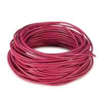 15 Ft of Rose Genuine Leather Cord Round 2mm Diameter
