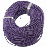 15 Ft of Purple Genuine Leather Cord Round 1mm Diameter