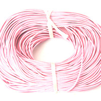 15 Ft of Pink Genuine Leather Cord Round 2mm Diameter