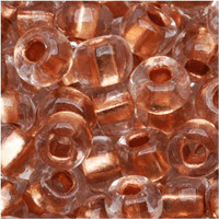 Czech Seed Beads 6/0 Crystal Copper Foil Lined (1 ounce)