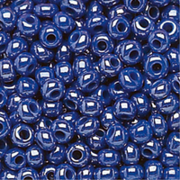Czech Seed Beads 6/0 Royal Blue Opaque Luster (1 ounce)