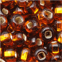 Czech Seed Beads 6/0 Smoke Topaz Foil Lined (1 ounce)