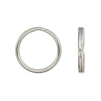 Silver Plated Split Rings Key Rings 24mm (10)