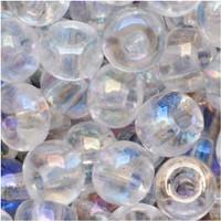 Czech Seed Beads 6/0 Crystal Clear AB (1 ounce)