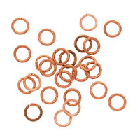 UnCommon Artistry 5mm Bright Genuine Plate Copper Open Jump Rings 20g. (50)