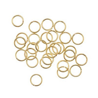 UnCommon Artistry Gold Tone Brass Open 6mm Jump Rings 20 Gauge (100)