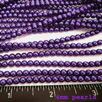 UnCommon Artistry Glass Pearl Beads 200pcs 4mm - Royal Purple