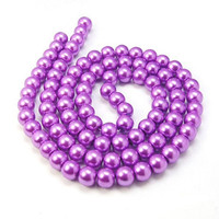 UnCommon Artistry Glass Pearl Beads 200pcs 6mm - Orchid Purple