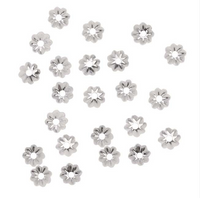 Sterling Silver Delicate Bead Caps 4.5mm (50)