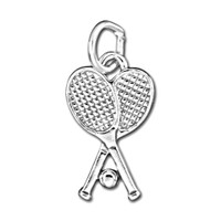 UnCommon Artistry Sterling Silver Tennis Rackets with Ball Charm