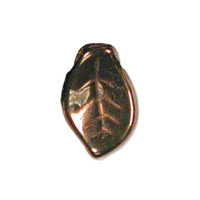 Czech Glass 7x12mm Leaf Bead, Dark Bronze (50)